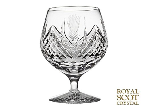 Royal Scot Crystal Scottish Thistle Single Brandy Glass 40cl 350ml