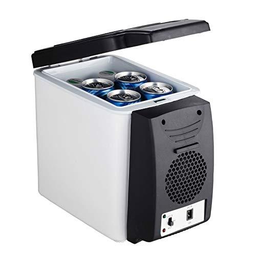 Mini Refrigerador De Coche De 6L, Calentador 2 En 1, Refrigerador De Viaje Multifunción De 12 V, Caja De Hielo Eléctrica Portátil, Congelador,Gris