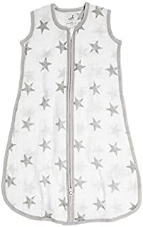 aden by aden + anais Classic Sleeping Bag, 100% Cotton Muslin, Wearable Baby Blanket, Dusty - Stars