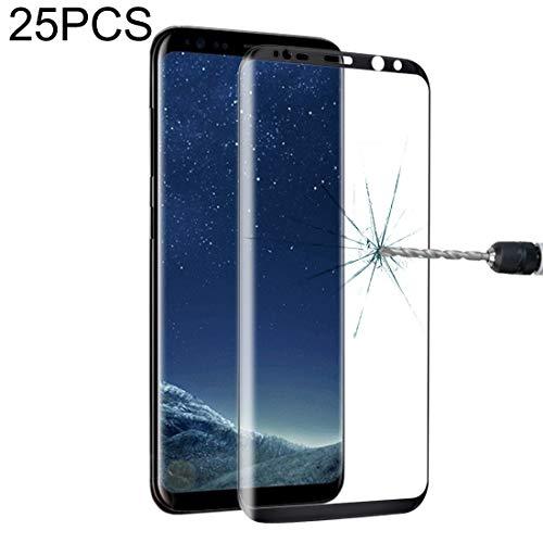 Zhangl Película de Vidrio Templado para teléfono móvil 25 PCS para la Galaxia S8 Plus Pantalla Completa Edge Pegamento de Cristal Templado Protector de Pantalla Película de Vidrio Templado de