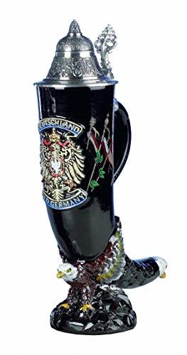 Jarra de cerveza alemana águila cuerno de beber Alemania, jarra 0,75 litros KI 1027 0,75L