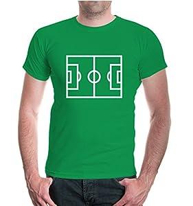 T-Shirt Fussball-Feld-XL-Kellygreen-White