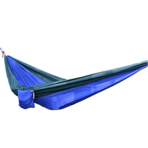 Creative sur toile Couleur assortie Hamac pliable Hamac 259,1 x 139,7 cm Vert et Bleu