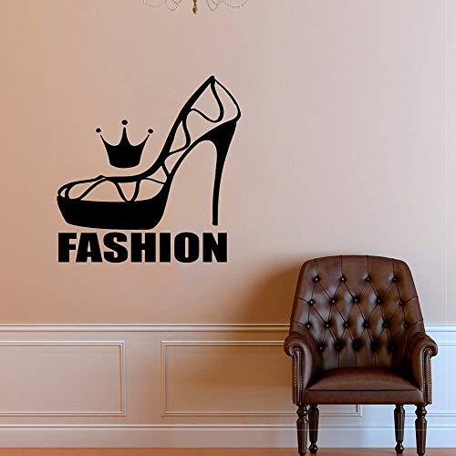 N\A Calcomanía de Pared de Zapatos de Moda, Estilo de Tacones Altos, Pegatinas de Pared para Ventana, Tienda de Zapatos, Ropa, decoración, Modelo, Vinilo, Pegatinas de Pared de Moda