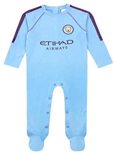 Manchester City FC Pijama Entera Niños Bebés Azul
