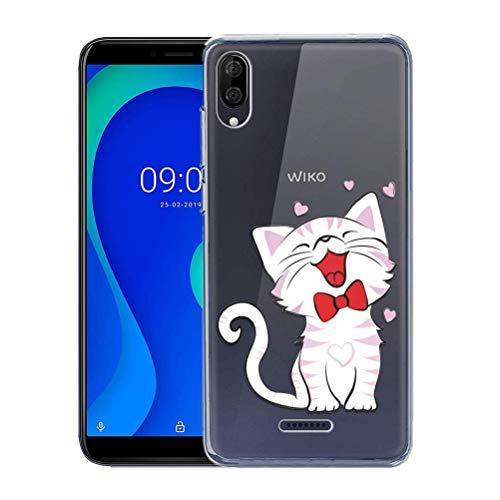 Zhuofan Plus Wiko Y80 Hülle, Silikon Transparent Schutzhülle mit Muster Motiv Handyhülle Weiche TPU 360 Bumper Kratzfest Durchsichtige Hülle Cover für Wiko Y80 5,99