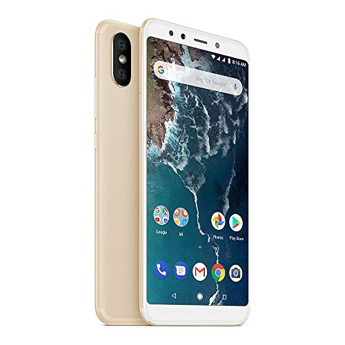 "Xiaomi Mi A2 Smartphones 5.99"" Full HD Screen, 4GB RAM + 64GB ROM Snapdragon 660 Octa Core, Dual SIM Cards, 20MP Front & 20MP+12MP Dual Rear Cameras Mobile Phones (Oro)"