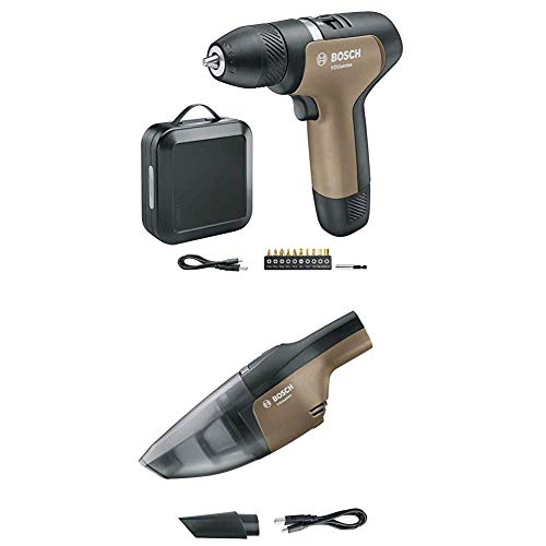 Bosch Akkuschrauber YOUseries Drill (1 Akku, in Aufbewahrungsbox) + Bosch Akku Staubsauger YOUseries Vac (ohne Akku)