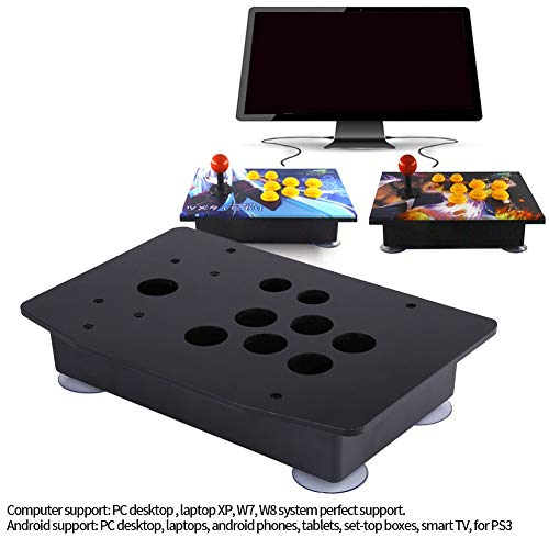 Wallfire Reemplazo de Kits de Bricolaje de Paneles y Cajas de acrílico Negro para Juego de Arcade