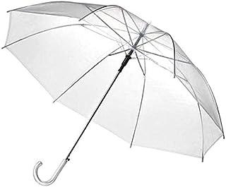 Travel Umbrella Umbrella Dome Shape Transparent Umbrella Transparent Umbrella Long Umbrella Automatic Long Umbrella Umbrella (Color : Transparent)
