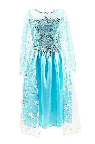Disfraz de Elsa frozen - niña - modelo michelle - halloween - carnaval - talla 110-3/4 años - idea de regalo original frozen