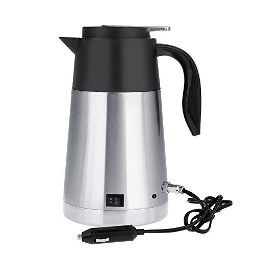 Draagbare roestvrijstalen auto vrachtwagen reiswaterkoker pot verwarmd water kopje snel koken voor thee koffie melk 1300 ml (12V)