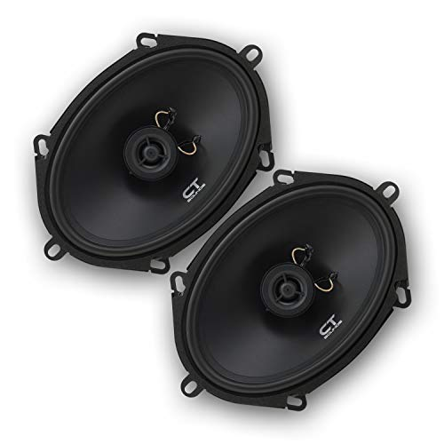 CT Sounds 5x7 Inch Coaxial Car Speakers (Pair), 2 Way Full Range, 30W (RMS) | 60W Max Power Per Speaker, Easy Mounting, 4 Ohm Impedance - Bio 5x7