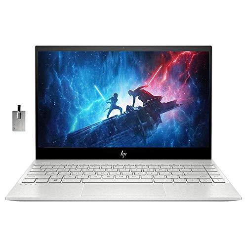 2021 HP Envy 13.3' 4K Ultra HD Touchscreen Laptop Computer, Intel Core I7-1065G7, 8GB RAM, 512GB SSD, Intel Iris Plus Graphics, Backlit Keyboard, HD Audio, Windows 10, Silver, 32GB Snow Bell USB Card