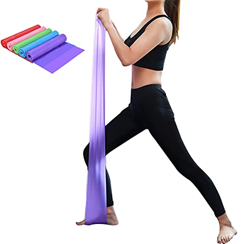 Yoga Tension Band,Elastic Band,TPE Fitness Resistance Band,Strength Training Stretch Band,Tension Rope,Tension Sheet (Pink)