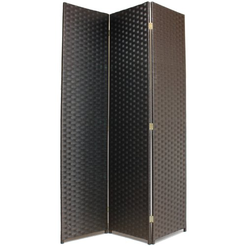Hartleys Handgemachter massiver Raumteiler - Schwarz, 3-teilig