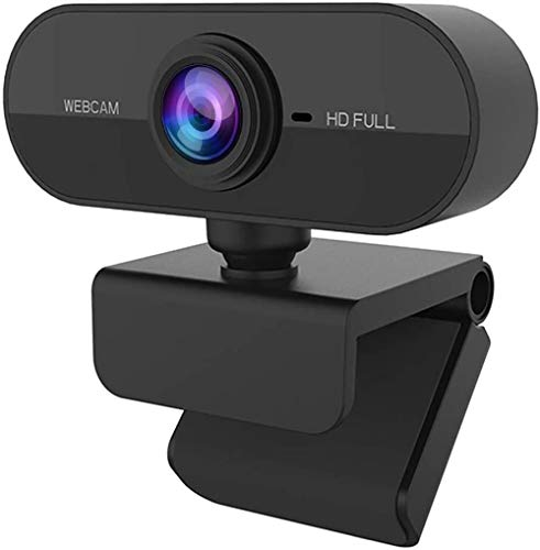 Cámara web HD USB Webcam 1080p 30fps Web Cam cámara de vídeo clara estéreo HD corrección de luz Plug and Play para PC/ordenador portátil/Macbook/ordenador