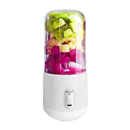 260ml Licuadora Portatil Personal con 6 Cuchillas, USB Recargable Exprimidor Mini Taza de Jugo Portátil White