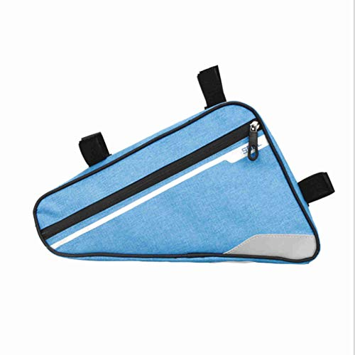 Casa Basic Triangle Bicycle Bag Triangle Bag Beam Bag Waterproof Upper Tube Saddle Bag Mountain Road Bike Riding (Blue)