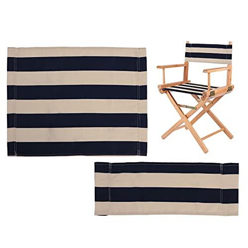 UTDKLPBXAQ Funda para silla de director de ocio, impermeable, de lona, lavable, protector para taburete, adecuada para silla de jardín