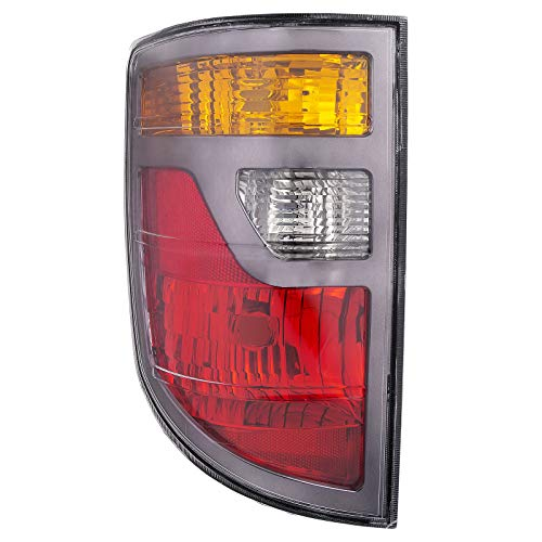 HEADLIGHTSDEPOT Tail Light Compatible with Honda Ridgeline 2006-2008 Pickup Truck Includes Left Driver Side Tail Light