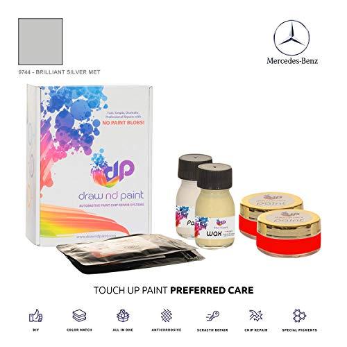 DrawndPaint for/Mercedes Viano/Brilliant Silver Met - 9744 / Touch-UP Sistema DE Pintura Coincidencia EXACTA/Preferred Care
