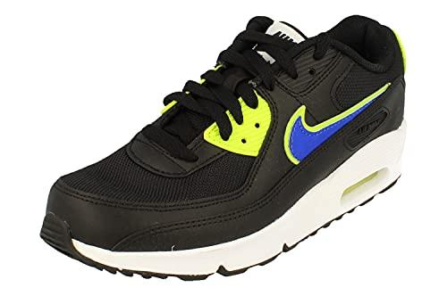 Nike Air Max 90 GS Running Trainers DA4670 Sneakers Scarpe (UK 3.5 us 4Y EU 36, Black Racer Blue Volt 001)