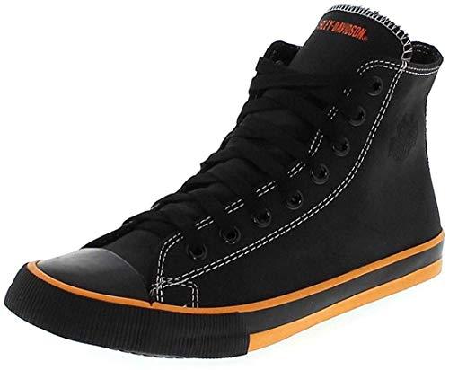 Harley Davidson, Nathan, scarpe da ginnastica vulcanizzate, da uomo, Nero (nero), 43 EU