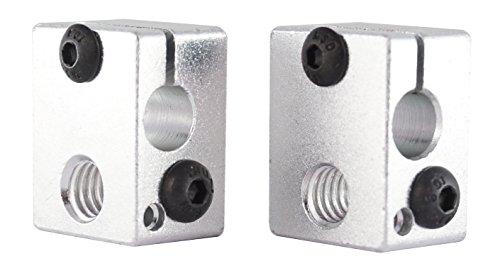 3D FREUNDE 2 stk. Aluminium Heizblock E3D V6 Clone Heater Block Extruder Hotend RepRap Prusa I3 Makerbot 3D Drucker printer Aluminium