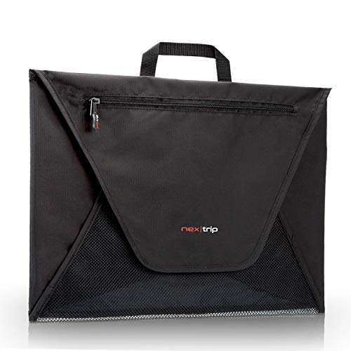 nex|trip Hemdentasche - Blusentasche für den knitterfreien Transport von Hemden & Kleidung - Hochwertige Kleidertasche mit Fronttasche für Wertsachen & Co. - Hemdenbox mit Faltschablone