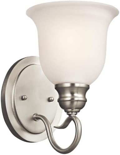 Kichler 45901NI Special price for a limited time Regular dealer Tanglewood Wall Nickel Sconce Brushed 1-Light