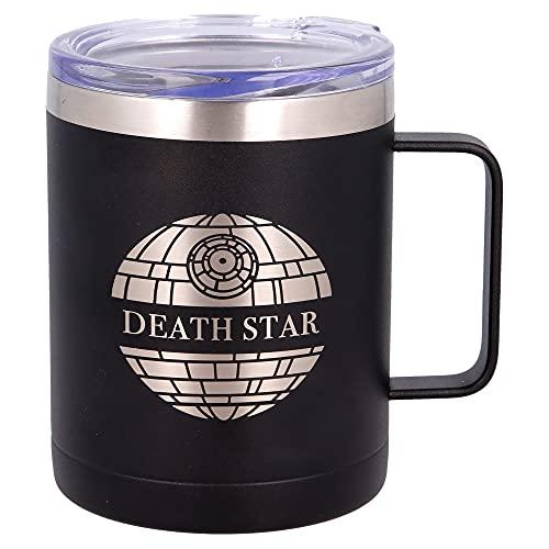 STAR WARS| Taza termica de Acero Inoxidable - 380 ml - Taza termo cafe para llevar | Termo Reutilizable para Bebidas Frías/ Con aislamiento al vacío de doble pared y tapa sin BPA