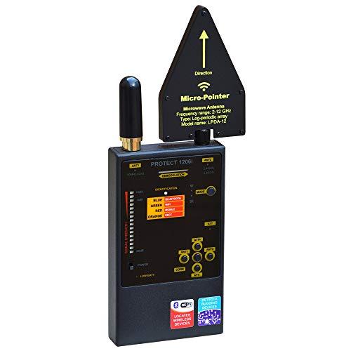 DiscoverIt DefCon DD1206 Professional Digital Radio Frequency RF Bluetooth, GSM (Cellular), WiFi, Detector Hunter Sweeper