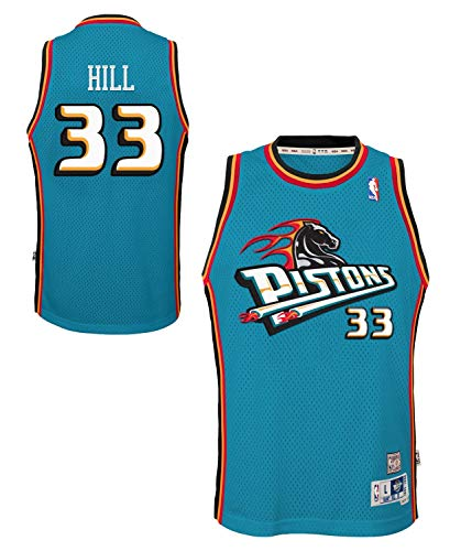 Grant Hill Detroit Pistons Youth Swingman Stitched Jersey (Small)
