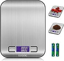 ADORIC Báscula Digital Cocina, Smart Weigh, Mini Balanza Escala Multifuncional electrónica para Alimentación, Joyería y...