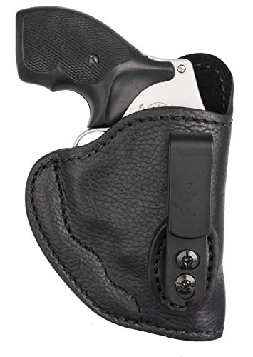 """1791 GUNLEATHER Ultra Custom J Frame Leather Holster for Ruger, S&W, Taurus, Colt and Rossi Revolvers - IWB CCW Holster - Memory Lock Right Handed Leather Gun Holster. Max Barrel = 2.5"""""""