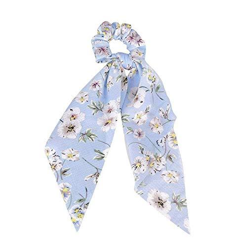 JSZWGC Accessoires de Mode Cheveux Longs écharpe Rubans Scrunchie for Les Femmes Bow Tie élastique Queue de Cheval Titulaire Fille Bandeaux (Color : 1