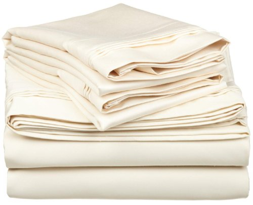 Buy Bargain 1500 Thread Count Egyptian Cotton Solid Sheet Set Color: Ivory, Size: King