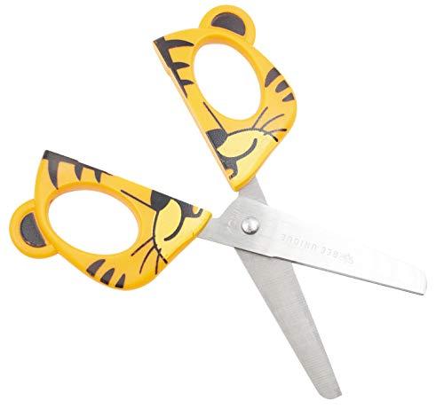 Tesoura Escolar Lâmina Inox - Formato Tigre 13.5 cm, Bee Unique, DS-SO0019