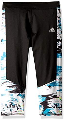 adidas Capri Legging Pantis, Color Negro, S para Niñas