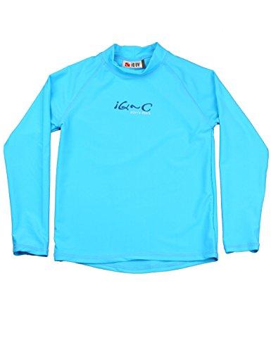 iQ-Company Kinder UV Kleidung 300 Langarm-Shirt, Türkis, Gr. 116/122