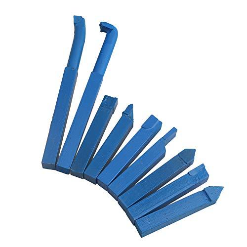 CNBTR Juego de herramientas de torneado de torno de aleación YT15 de 10 mm, color azul