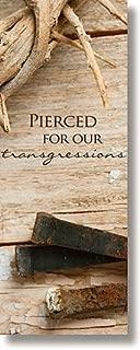Lenten Series X-Stand Church Banner - Pierced for Our Sins