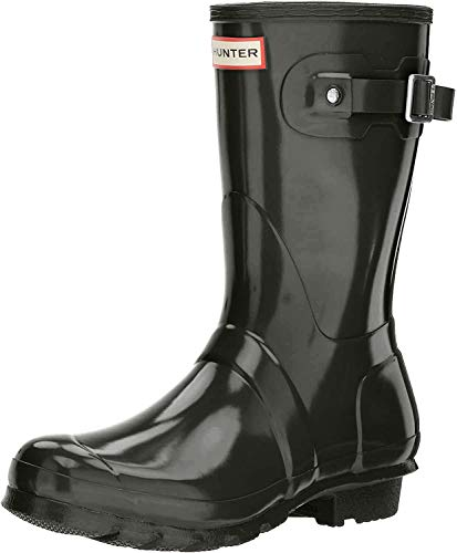 Hunter Women's Original Short Gloss Dark Olive Rain Boots - 9 B(M) US
