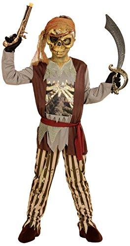 WIDMANN wdm03976?Disfraz para nios Pirata de Barco Fantasma (128cm/5?7aos), Color marrn, Talla XXS