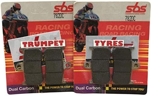 Indio Springfield Oscuro Caballo 1800 15 16 17 18 19 SBS Rendimiento Frente Dual Carbono Carrera Pastillas de Freno Set Original OE Calidad 782DC