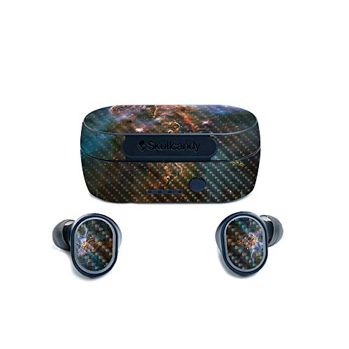 MightySkins Carbon Fiber Skin for Skullcandy Sesh True Wireless Earbuds - Eagle Nebula | Protective, Durable Textured Carbon Fiber Finish | Easy to Apply, Remove, and Change Styles | Made in The USA