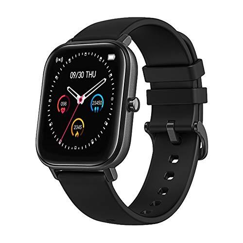Smartwatch, Bluetooth, Herzfrequenz- und Blutdruckmessgerät, Premium-Fitness-Tracker, langlebiger Touchscreen, Unisex, Kalorienzähler, wasserdicht IPX7 von Colmi UK + kostenlose App (schwarz)