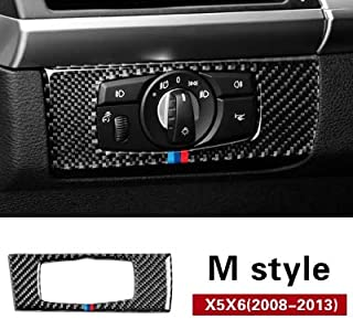 Car-Styling Car Headlight Adjustment Switch Button Frame Cover Trim Sticker for BMW E70 E71 X5 X6 2008-2013 accessories