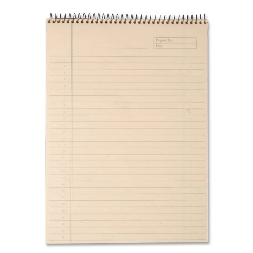 TOPS Docket Gold Project Planning Pad, 8-1/2 x 11-3/4 Inches, Wire Bound, Ivory, Project Rule, 70 Sheets per Pad (63755)